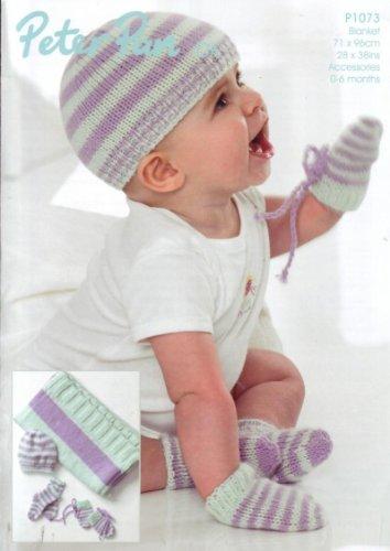Wendy - Peter Pan DK Baby Beanie, Mitts, Socks and Blanket 1073