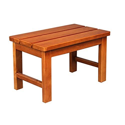 Taburetes para ducha / baño Taburete de madera para asiento de ducha Taburete plano de madera para cambiar zapatos Taburete para ancianos / discapacitados Taburete antideslizante para asiento de ducha