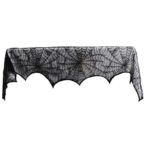 Kentop Halloween Mantel de Chimenea Tela Decorativa con Dibu