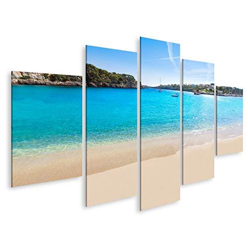 Cuadro en lienzo Mallorca Playa de Porto Cristo Manacor Mallorca Isla Balear España cuadros decoracion Impresión salon