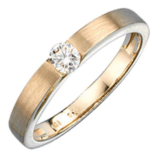 Schmuck-Krone - Goldschmuck FINERING - Anello, con Diamante, Oro giallo, misura 18