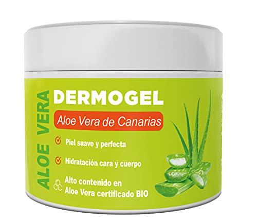 ALOE VERA DE CANARIAS BIO - DERMO GEL - Hidratante natural para cara y cuerpo - Alivia la piel después de la depilación y afeitado, quemaduras solares y picaduras de insectos (500 ml)