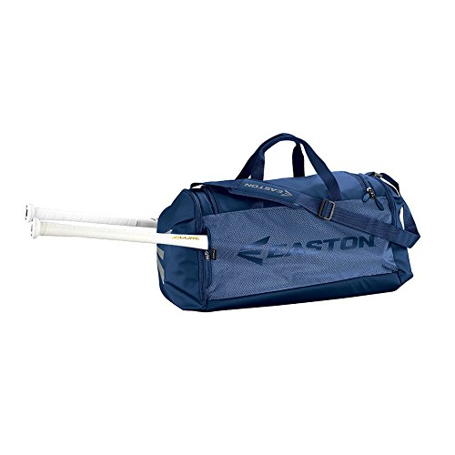 EASTON E310D PLAYER Bat & Equipment Duffle Bag | Baseball Softball | 2020 | Navy | 2 Bat Sleeves | All Vented Pockets | Shoe Pocket | Main Gear Compartment | 2 Side Pockets | Fence Hook