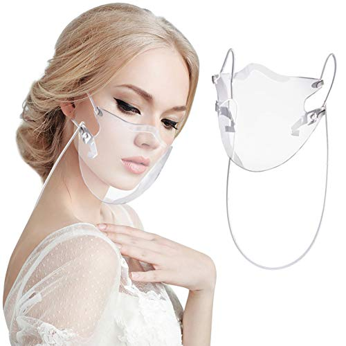 1PCS Adult Durable Clear Shield Face_Masks, Breathable_Mask for Women Men, Transparent Face_Mask for Coronàvịrụs Protectịon, Outdoor Sport Cycling Dust_proof Mouth Covering