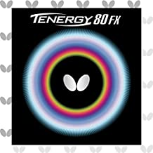 Butterfly Tenergy 80 FX Table Tennis Rubber Table Tennis Rubber - 1.7 mm, 1.9 mm, or 2.1 mm - Red or Black - 1 Inverted Table Tennis Rubber Sheet - Professional Table Tennis Rubber
