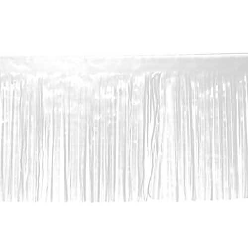Anderson's White Vinyl Fringe, 15 Inches x 10 Feet, Parade Float Decoration