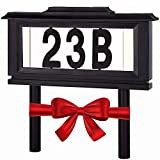 Lighted House Numbers Address Sign - Solar Lighted Address Numbers Signs for...