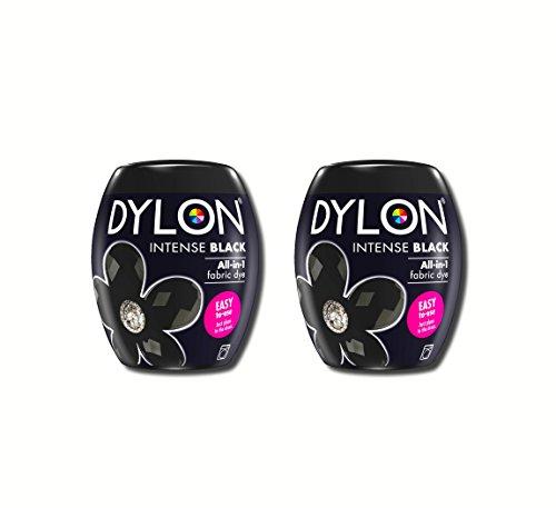 Dylon 350 g Intense Black Machine Dye Pod 2 Pack, Schwarz, 2X 350