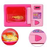 BeesClover Bambini Simulazione Cucina Forno a microonde Giocattolo Kit casa Giocattolo Gioco educativo Puzzle Giocattolo Regalo