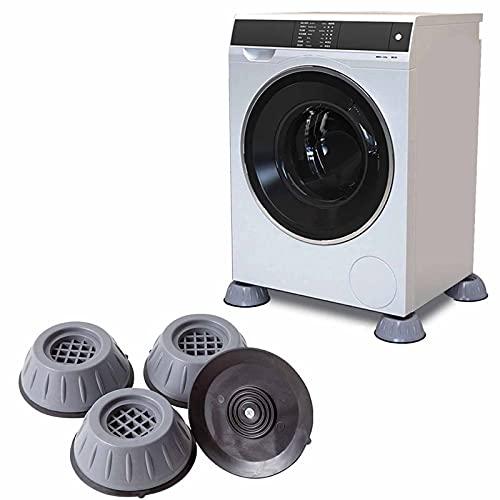Almohadillas para Pies Lavadora,Almohadilla Universal Antideslizante Que Absorbe Golpes Goma para Lavadoras, Elevación Altura y Reducción de Ruido, para Lavadora Secadora Refrigerador Muebles