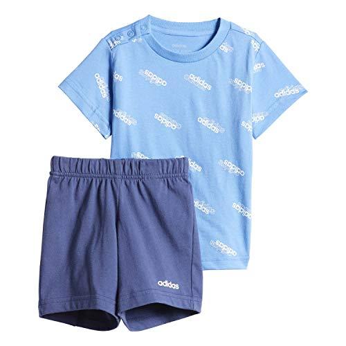 adidas Favorites Set Jr Chándal, Unisex bebé, Azul (Lucky Blue/White), 12-18M