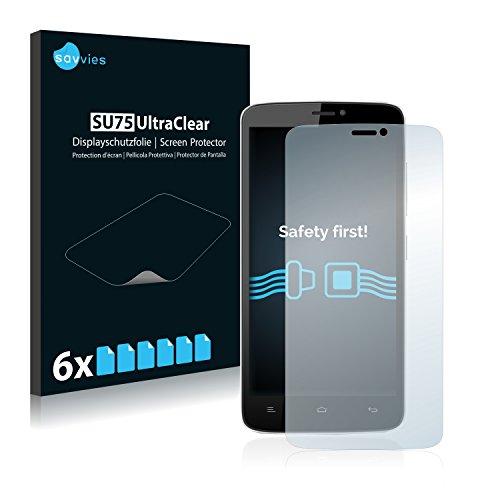 Savvies 6X Schutzfolie kompatibel mit Allview V2 Viper e Bildschirmschutz-Folie Ultra-transparent
