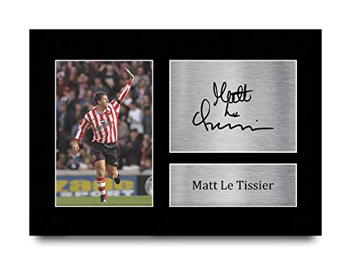 HWC Trading A4 Matt Le Tissier Southampton Gifts Printed Signed Autograph Picture for Fans and Supporters - A4