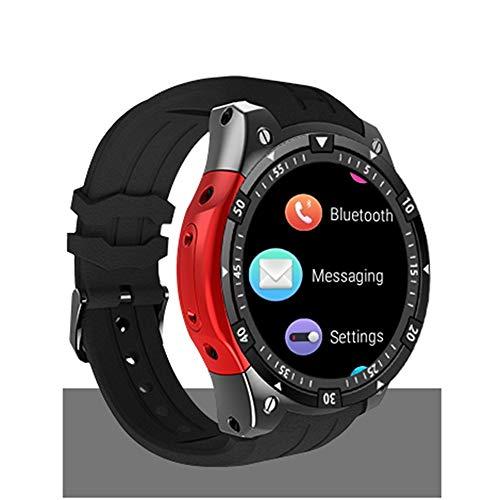 Smartwatch Android 5.1 OS Smartwatch MTK6580 3G SIM GPS-Uhr Smartwatch Quad Core 512M Prozessor 8G Speicher,Red