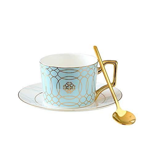 LILI Kaffeetasse Set Keramik Exquisite Europäische Nachmittagstee Tee Set Schwarze Teetasse Untertasse Knochen China,9