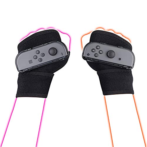 LeyuSmart Wristbands for Just Dance 2021 2020 Switch Dancing Games, Armband Hand Free Wrist Straps, JoyCon Grips Accessories Large Size (Gray)