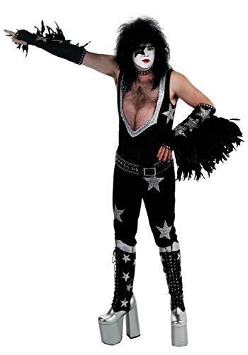 Authentic Men's KISS Paul Stanley Costume Starchild Adult Costume Small/Medium Black