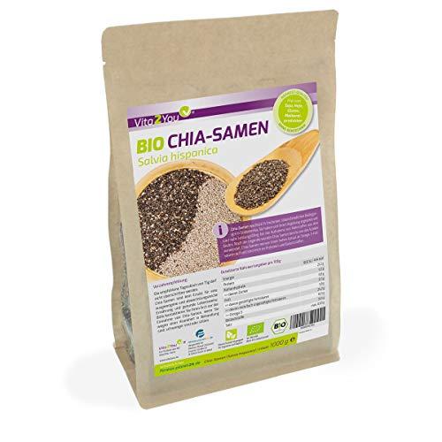 BIO Chia Samen Organic - 1kg Zippbeutel - 1er Pack (1000g) - Salvia Hispanica