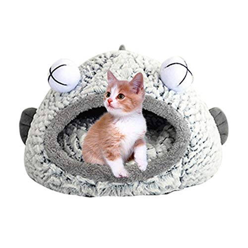 UKKO Cama para perros de invierno, cálida para gatos, cama de invierno, cálida para mascotas, nido para dormir, suave, para mascotas, para perros pequeños, medianos y grandes, cueva S/L