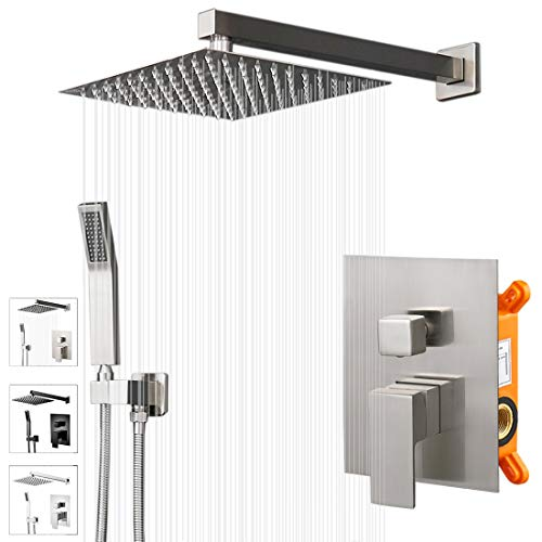 Buy Discount KEBAO Shower System- Brushed Nickel Shower Faucet Set for Bathroom- State-of-the-art Ai...