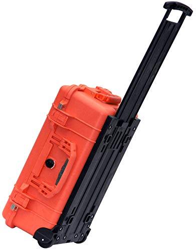 PELI 1510LFC Stoßfester Laptop Trolley mit Deckeleinteiler, IP67 Wasser- und Staubdicht, 27L Volumen, Hergestellt in den USA, Mit Schaumstoffeinlage (Anpassbar), Schwarz