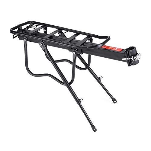 PQXOER Soporte trasero para bicicleta con rodamiento de carga de 50 kg para bicicleta de montaña de carga de asiento trasero de portaequipajes de aleación de aluminio