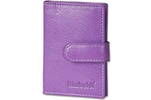 Rimbaldi Rimbaldi® XXL-Kreditkartenetui mit 21 Kartenfächern Weiches Rind-Nappaleder Aubergine