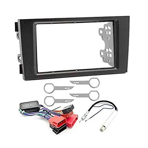 Sound-Way Kit Montaje Autoradio, Marco 2 DIN Radio para Coche, Cable Adaptador...