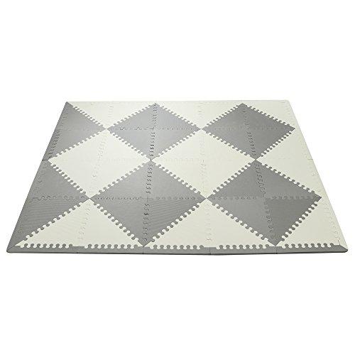 スキップホップ プレイスポット フォーム フロアー タイル マット Playspot Geo Foam Floor Tiles プレイマット ベビー (GREY CREAM) SKIP HOP [並行輸入品]