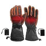 Guantes de aislamiento QWSX para motocicleta, guantes térmicos de invierno, con batería, ajustable, 3D, control de temperatura, para deportes al aire libre, ciclismo, fuertes y resistentes (tamaño: M)
