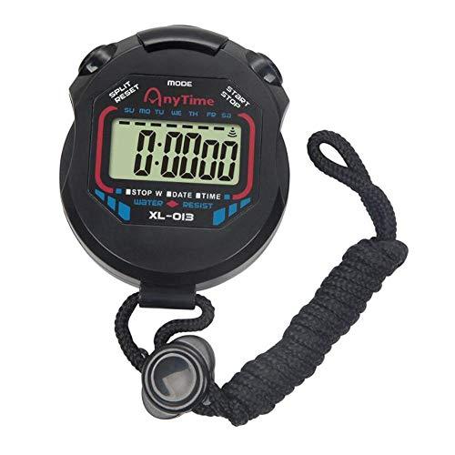 Calloy ストップウォッチ デジタル 防水 1/100秒計測 スプリットタイム/ペースカウント機能 ストローク 測定機能付き 大画面