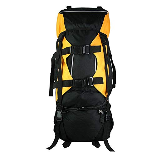 DKEE Outdoor Mountaineering Bag Travel Large Backpack 80L Multi-purpose Camping Backpack (Color : Yellow)