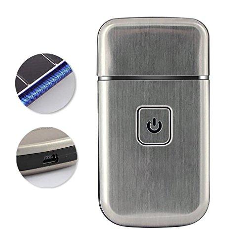 LL-Herren Mini wiederaufladbare kabellose USB elektrische Folie Rasierer Edelstahl Klinge
