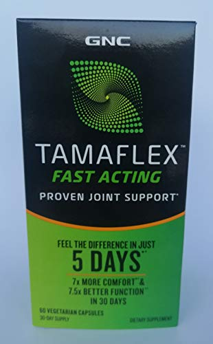 GNC TamaFlex Fast Acting, 60 Veg. Capsules - Joint Support. Feel The Difference Immediately After 5 Days!
