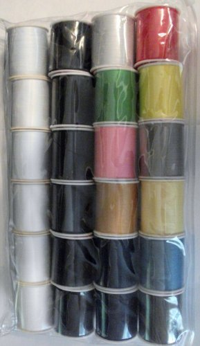 24 Assorted Spools of Thread Full Size 200 Yards Each