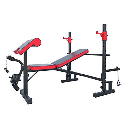 Hantelbänke Squat Rack Multifunktionale Home Bankdrücken Fitnessgeräte Trainieren Muskeln Und Verlieren Effektiv Gewicht (Color : Black, Size : 151 * 103 * 127cm)