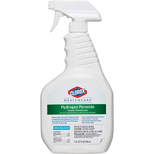 Clorox SYNCHKG056540 Healthcare Hydrogen Peroxide Cleaner Disinfectant Spray, Kills Norovirus, 32 fl oz (Pack of 1), Clear