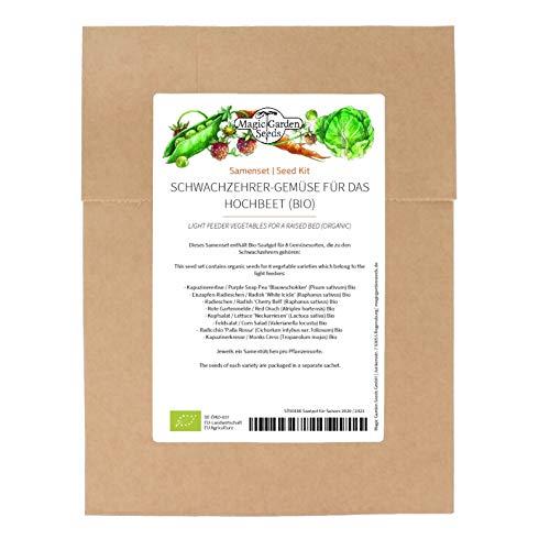 Schwachzehrer-Gemüse für das Hochbeet (Bio) - Samen-Geschenkset mit 8 Gemüsesorten für das dritte Jahr im Fruchtwechsel