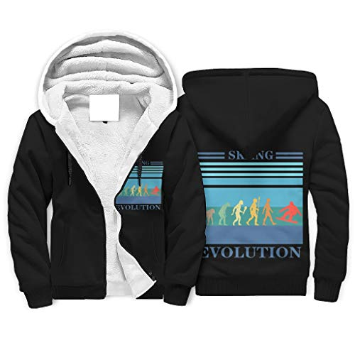 Generic Branded Men Evolution Snowboarding Fleece Zipper Hoodie Warm - Hoodie Sweatshirt for Fall white m