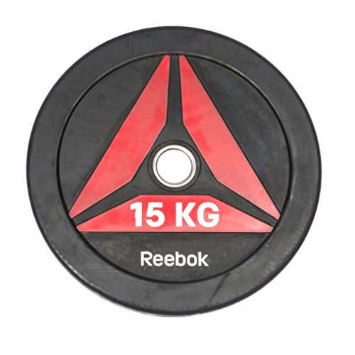 Reebok(リーボック) ファンクショナル ウェイトプレート15kg Bumper Plate ラバー 50mm径 筋トレ RSWT-13150