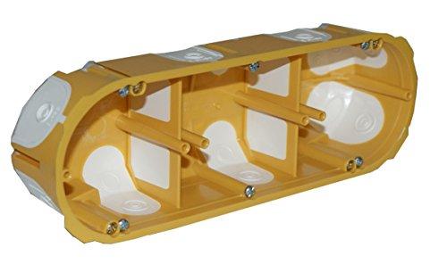 2x Schalterdose unterputz Hohlwand Schalterdosen UP Dose Winddicht Luftdicht hohlwanddose (3-fach)