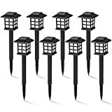 GIGALUMI 8 Pack Solar Pathway Lights Outdoor,...