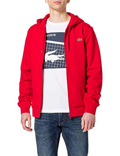 Lacoste Herren SH1551 Sweatshirt, Rot, L