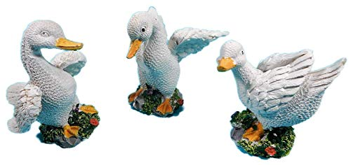 N / A 3er Set Mini Gänse je 7 x 6 cm Gans Ente Frühling Tier Figur Deko 3454