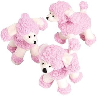 Plush Pink Poodles (set of 12 stuffed animal toys)