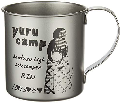 Yuru Camp Rin Shima Character Metal Tin Mug Travel Cup Cospa Collection Anime Art
