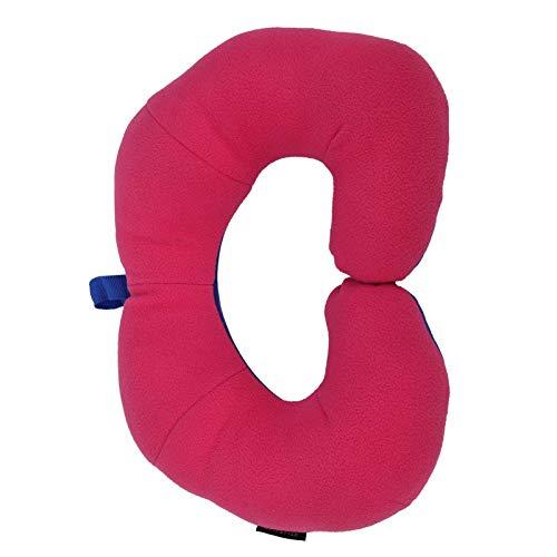 Proteja el estilo chino de la almohada del cuello en forma de U de la protección del cuello de Haed para el viaje(Royal blue + red)