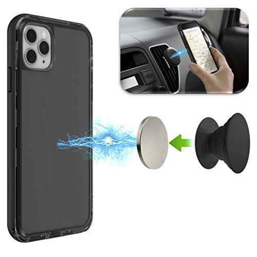 PopMagnetz Magnetic Add-On - Adjustable & Removable for Car Mounts - Magnet Stand Accessory for Pop Grips Compatible with PopSockets (Pop Grip, Car Mount, & Phone Case Not Included)