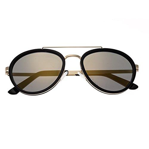 Breed Gemini Titanium Sonnenbrille, (Gold-black/Gold-black), Medium