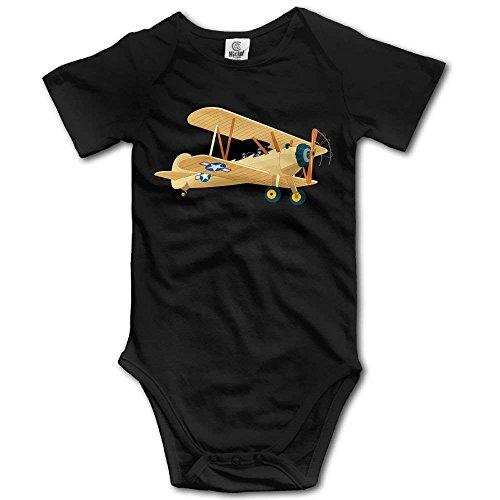 Conjunto de Ropa de Escalada para Bebés Unisex Avión Dibujado Vector Monos Mameluco Onesies Ligeros de Manga Corta 18 M